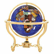 Gemstone Desk Globes