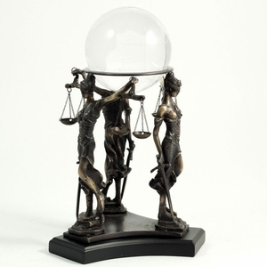 Lady Justice Crystal Ball Stand & Ball