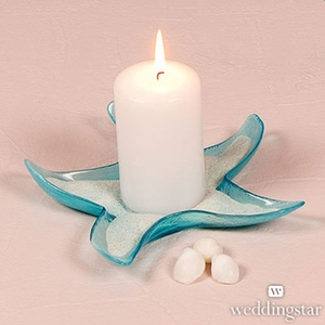Large Starfish Glass Candle Holders Dishes