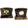 Lawyer Desk Clock & Letter Rack