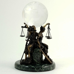Lawyer's Crystal Ball Stand & Globe