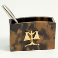 Legal Black and Gold Marble Pencil Box