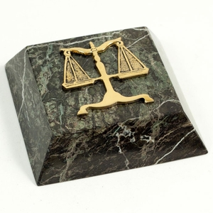Legal Paperweight Marble & Gold