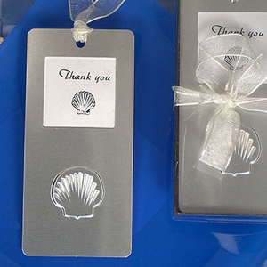 Mark it with memories bookmark collection seashell design
