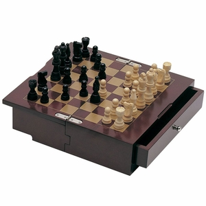 Portable Wooden Chess Set