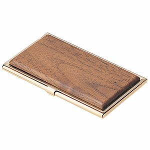 Promotional Business Card Case (Brass & Wood)