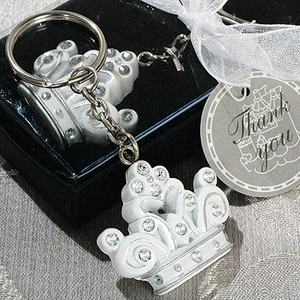 Queen for a Day Sparkling Tiara Keychain