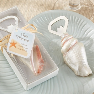 "Sea Shell Bottle Opener ""Shore Memories"""
