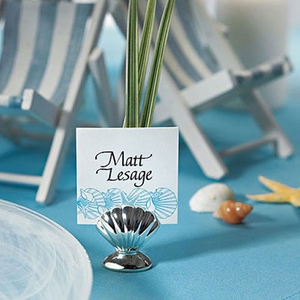 Shell Silver Place Card Holders