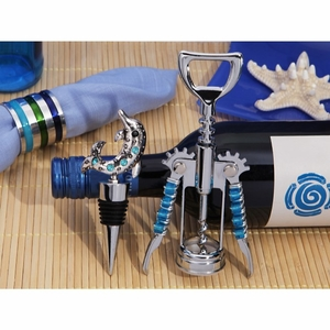 Signature collection dolphin Bottle opener and stopper set