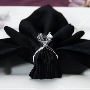 Silver Plated Diamond Ring Napkin Holders