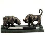 Stock Market Desk Pen Stands