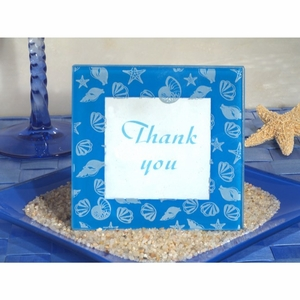 Stylish Beach Theme glass photo frame