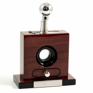 Wood and Stainless Steel Table Top Guillotine Cigar Cutter