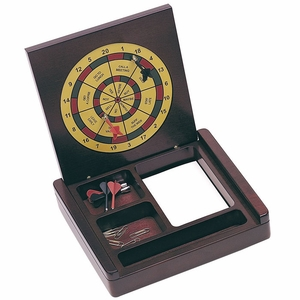 Wood Desk Organizer & Dartboard