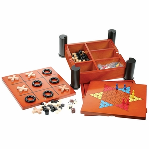 Wood Multi Board Game Set