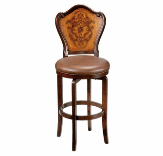 Fabulous Lyon Etched Swivel Bar Stool Two Tone Finish 4870 830 Dailytribune Chair Design For Home Dailytribuneorg