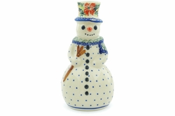 Candle Holder Snowman 6""