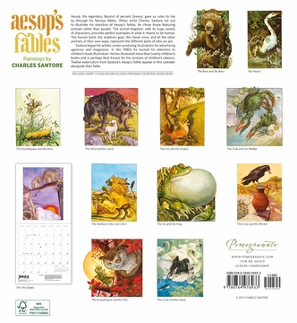 Aesop's Fables: Paintings by Charles Santore 2018 Wall Calendar