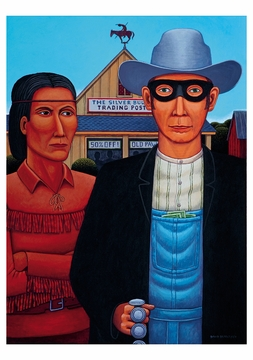 American Indian Gothic Notecard