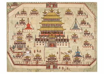 Anonymous Picture-map of Central and Eastern Tibet Postcard