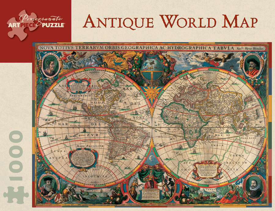 Antique world map 1000 piece jigsaw puzzle gumiabroncs Image collections