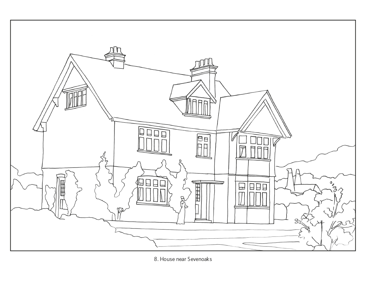arts crafts houses coloring book