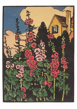 Arts and Crafts Block Prints by William S. Rice Boxed Notecards