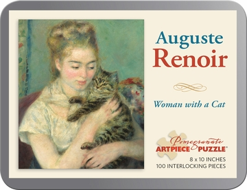 Auguste Renoir: Woman with a Cat 100-piece Jigsaw Puzzle