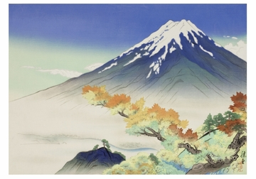 Autumn Fuji Notecard
