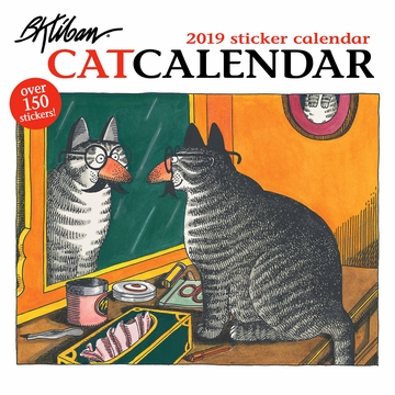 B. Kliban: CatCalendar 2019 Sticker Wall Calendar