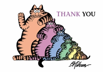 B. Kliban: Stack of Cats Boxed Thank You Notecards