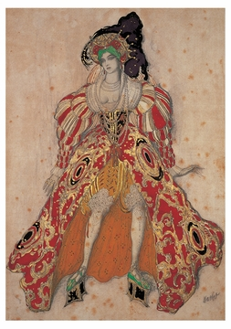 Costume Design for Potiphar's Wife Notecard