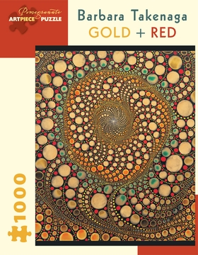 Barbara Takenaga: Gold + Red 1,000-piece Jigsaw Puzzle