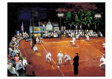 Baseball at Night Postcard
