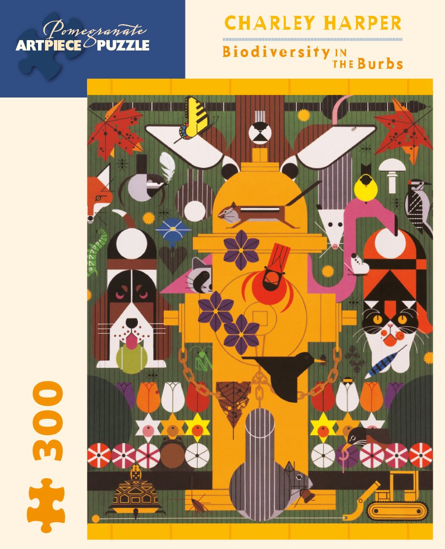 Charley Harper Biodiversity In The Burbs 300 Piece Jigsaw Puzzle