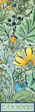 Birds Among Flowers, Leaves, and Berries Bookmark