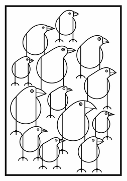 birds charley harper coloring cards - Charley Harper Coloring Book