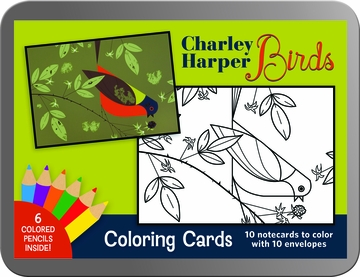 Birds: Charley Harper Coloring Cards