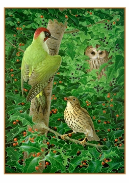 Birgitte Hendil: Woodpecker, Owl and Thrush Holiday Cards