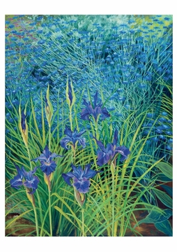 Blue Iris and Cornflowers Notecard