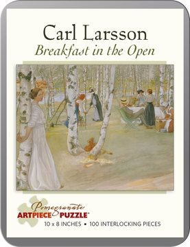 Breakfast in the Open: Carl Larsson 100-piece Jigsaw Puzzle