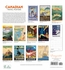 Canadian Travel Posters 2019 Wall Calendar
