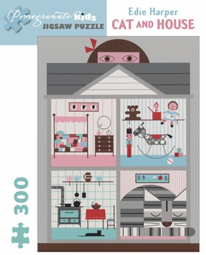 Edie Harper: Cat and House 300-piece Jigsaw Puzzle