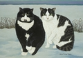 Cats: Mustache and Mama Notecard