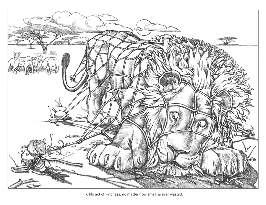 aesops fables coloring pages - photo#5