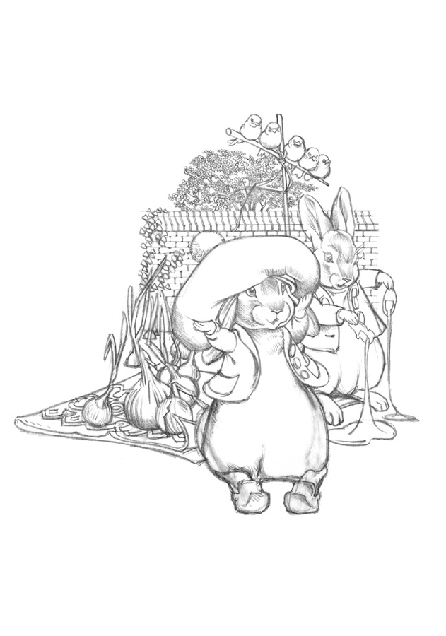 benjamin bunny coloring pages - photo#19