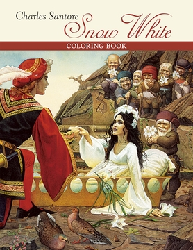 Charles Santore: Snow White Coloring Book