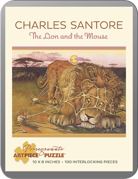 Charles Santore: The Lion and the Mouse 100-Piece Jigsaw Puzzle