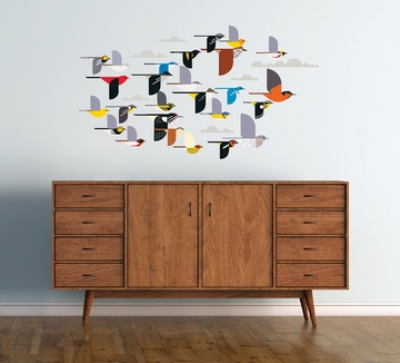 Charley Harper: A Flock of Birds Wall Décor